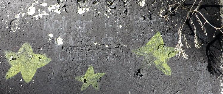 Graffito mit Liebeserklärung