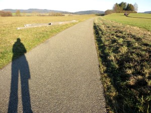 Schatten neben Feld